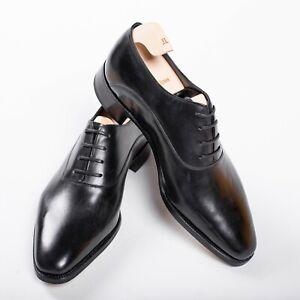 NWB $2450 JOHN LOBB BECKETTS Black Oxford Leather Shoes 6UK / 7US / 40EU