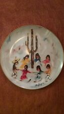"""Saguaro Dance"", De Grazia Limited Edition collector plate, 1985"