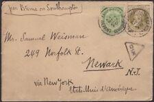 BELGIUM, 1906. Cover 64,86, Anvers - Newark, N.J.