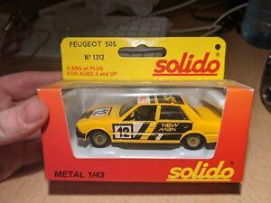 Peugeot 505 #12 New Man 1312 Solido 1/43 Miniature