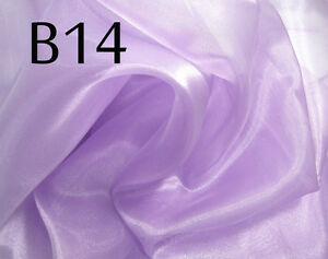 B14 (Per Yard) Light Lilac Thick Sparkle Organza Fabric Bridal dress Material