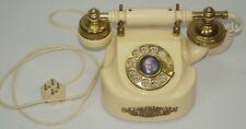 Vintage Escritorio Giratorio Teléfono Acabado de Latón