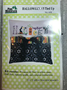 Pine Mountain Designs- Halloween All Tied Up Pillow Kit- OOP