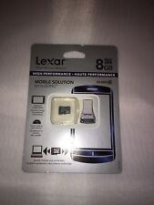LEXAR 8 GB MOBILE MICRO SDHC MEMORY ,CLASS 10 HI-PERFORMANCE, Sealed NEW