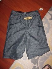 NWT BOY'S SKULL BOARDS GRAY CHECK SHORTS SIZE 16