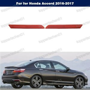 1Pair New rear bumper reflectors for Honda Accord 2016-2017