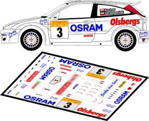 DECALS 1/43 FORD FOCUS RS WRC - #3 - KUCHAR - RALLYE DE SUEDE 2003 - D43138