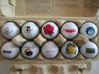 Lot XVII Konvolut 10 verschiedene Golfbälle mit Logo Schwerpunkt AT-Motive