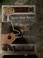 "Miko Hughes Freddy Krueger autographed Funko Pop Inscribed ""Never Sleep Again."""