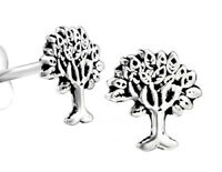 925 ECHT SILBER 🌳 Kleine Ohrstecker Ohrringe Baum Lebensbaum 6 mm