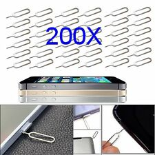 200X SIM Card Micro Tray Opener Ejector Pin Tool For iPhone 4S 5 5C 5S 6 6S 7