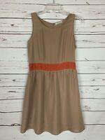 Freebird Boutique Women's M Medium Brown Coral Sleeveless Spring Summer Dress