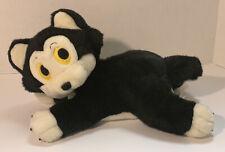 "Disney Store Figaro Plush Kitty Cat Pinocchio 14"" Stuffed Animal Black White Toy"