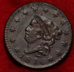 1816 Philadelphia Mint Copper Classic Head Large Cent