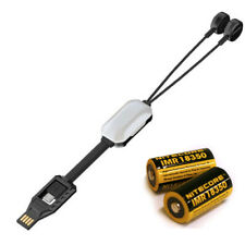 Combo: Nitecore Lc10 Portable Magnetic Usb Battery Charger w/2x Imr 7A Batteries