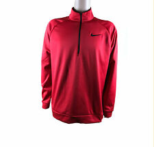 Nike Men's Sz Xl Pullover 1/2 Zip Sweater Dri-Fit Training Layer 836515 657 Red