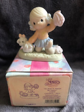 """Precious Moments """"It's Ruff to Always Be Cheery"""" Porcelain # 272639 (with BOX )"""