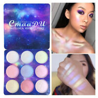 9 Colors Glitter Eyeshadow Powder Palette Highlighter Face Concealer Makeup Gift