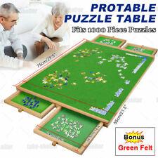 1000 Pcs Wooden Puzzle Table Jigsaw Puzzles Puzzle Board 4 Sliding Drawers AU
