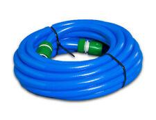 20m Blue Food Grade HOSE with connectors Caravan, Motorhome - non toxic hosepipe