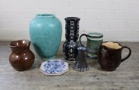 Assortment Of Vintage Studio Pottery Stoneware Vases & Jugs.