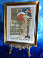 Vintage Art Nouveau Print FRANCO-BRITISH EXHIBITION 1908 Shepherd's Bush Mucha