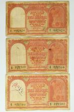 3 pcs 10 Rupees Persian Gulf Issue - Year 1957 (Group B)