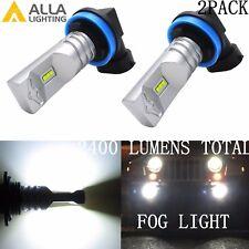 Alla Lighting 2x H11 H8 6000K Super White CSP LED Fog Light Bulbs Driving Lamps