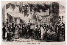 1865  --  LIBYE  LE MARCHE AUX EPONGES A TRIPOLI   3L462