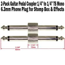 "2-Pack Guitar Pedal Coupler 1/4"" Male Plug Effect Stomp Box 6.3 Audio Phone"