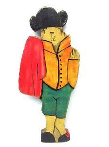 Vintage Original Hand Signed Dan Shupe USA Matador Hand Painted Wood Figure