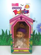 """Purple Haired Queen - 5"""" Trollkins Troll Doll - New In Package - Extremely Rare"""