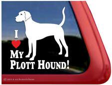 I Love My Plott Hound! ~ Dog Window Decal