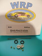 WRP  Wheelie Wheel with Holes Complete Kit for 1/24 Drag Cars - W-09