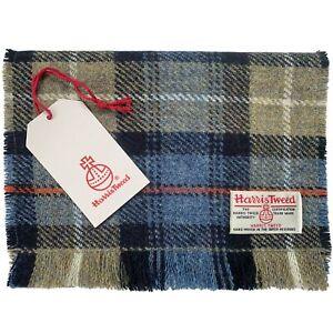 Harris Tweed MacKenzie Tartan Check Pure Wool Luxury Unisex Fringed Scarf