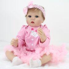 "22""Reborn Baby Dolls Vinyl Silicone Newborn Birth Gift Realistic Girl Toy Kids"