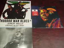 JUNIOR WELLS & BUDDY GUY HOODOO MAN DELMARK RECORDS DS-612 LIMITED LP+BONUS LP'S