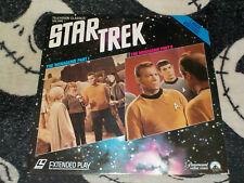 Star Trek The Menagerie Part 1 & 2 Laserdisc LD William Shatner Free Ship $30