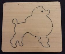 Poodle Wooden die Fits Bigshot, Sizzix, Zipemate,Bigshot Pro