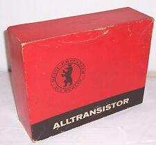 Leer Originalkarton Alltransistor Stern elite de Luxe Radio Holzgehäuse OVP DDR
