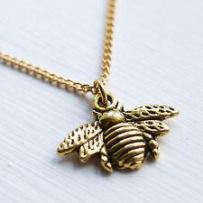 Gold Bumble Bee Necklace Bumblebee Charm Pendant Jewellery Ladies Emma Lou