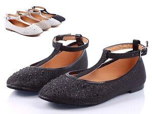 Black Color Glitter Toddler Buckle Princess Kids Flats Girls Dress Shoes Size 10