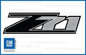 2007 - 2013 Chevrolet Silverado Z71 decals - FB - 1500 2500 GM HD stickers Chevy