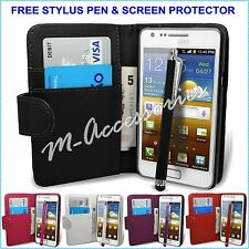 WALLET BOOK  FLIP PU LEATHER CASE COVER CARDS SLOT POUCH FOR MAJOR MOBILE PHONES