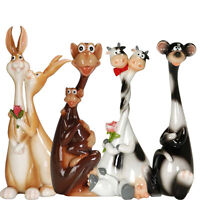 NEW ANIMAL FIGURINE STATUE ORNAMENT DOG CAT MONKEY PIG FIGURINES COLLECTION HOME