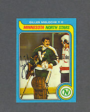 Gilles Meloche North Stars 1979-80 Topps hockey card
