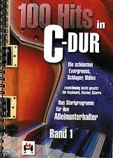 Keyboard Klavier Noten : 100 Hits in C-Dur 1 leichte Mittelstufe SCHLAGER OLDIES