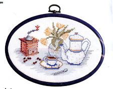 Royal Paris   9886422-19  Le Café  Point de Croix  Compté + Cadre tambour