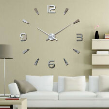 3D DIY Wall Clock Home Modern Decoration Crystal Mirror Stickers Living Room^&FO