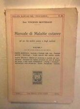 MANUALE DI MALATTIE CUTANEE MONTESANO ANNI'20